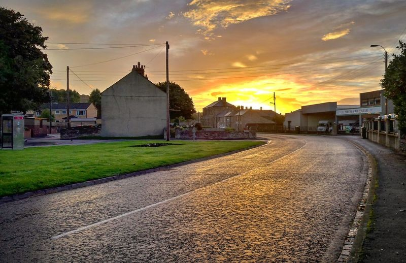 Wolsingham morning Outdoors Sky Sunset Nature No People Road Architecture Building Exterior Built Structure First Eyeem Photo