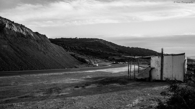 Black & White Black And White Photography Cabane De Pecheur Cabanedeplage Coastline Desert Horizon Over Water On The Road Outdoors Scenics Sea Tranquil Scene Tranquility