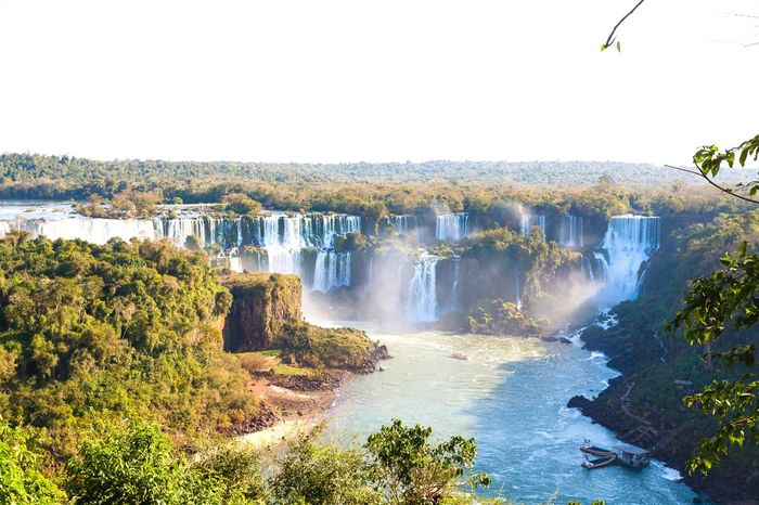 Iguazu falls falls. Landmark Landscape Argentina Argentina Photography Iguazu Iguazu National Park Iguazu 🌈🔆 Iguaçu Waterfall Waterfall_collection Landscape_Collection Landscape_photography Water Waterfall Tree Motion Power In Nature Clear Sky Sky Flowing Water Flowing Stream - Flowing Water Falling Water Cliff Running Water Natural Landmark Rapid