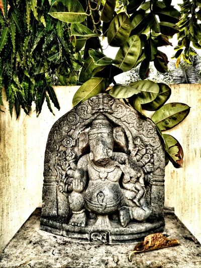 Ganapati Bappa Morya🙏 No People Day Statue Sculpture Outdoors Tree Close-up EyeEmNewHere EyeEm Best Shots Art Is Everywhere Live For The Story Place Of Heart