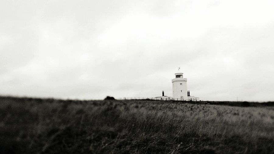 South Foreland Lighthouse on the White Cliffs of Dover, Dover, UK. White Cliffs Of Dover Lighthouse Kent United Kingdom First Eyeem Photo Dover Blackandwhite B&w B&w Photography Landscapes