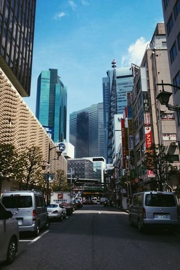 Tokyo Tokyo Street Photography No People Japan Tokyo Architecture Car Building Exterior Built Structure City Street Day Modern Sky