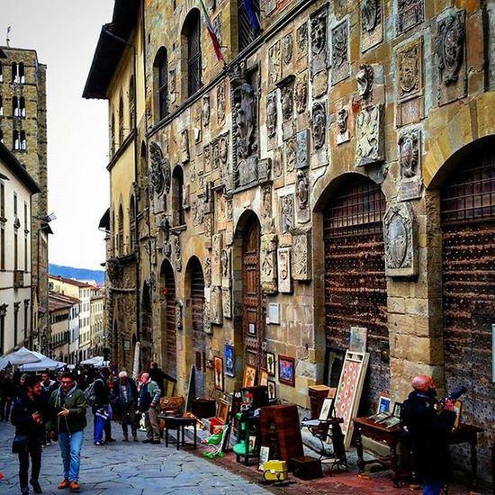 Arezzo Antique Market. . Arezzo Visitarezzo Tuscany Toscana Italia Italy Tuscanypeople Ig_TUSCANY_
