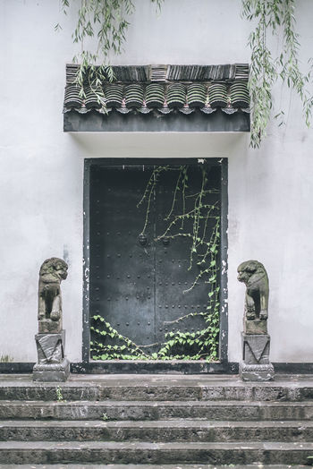 Sealed Off Anhui Architecture Art Baohe Built Structure China Chinese Classic Closed Door Eaves Hefei History Huizhou Landscape Off Sculpture Seal Solemn Stairs Stone