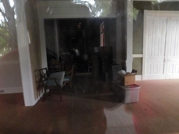 Boxes Chairs Cushions  Door Way Interior Views Storage Bin Stuff Unlived Wood Floors