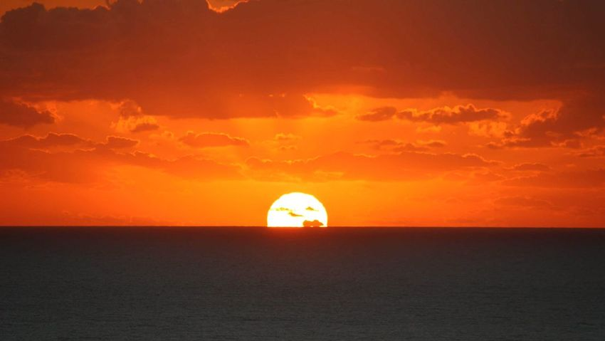 Sunrise Sunrise_sunsets_aroundworld Orange Color Atmospheric Mood Dramatic Sky Sun Sea Travel Beauty In Nature Nature Sunlight Silhouette Tranquility Beach First Eyeem Photo Cairns, North Queensland, Australia Tropical Climate Coral Sea Horizon Over Water