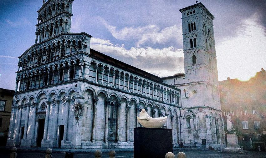 Duomo Cathedral di SAN Martino Luca Italy Historical Italy Lucca Italy Duomo Di San Martino Built Structure Building Exterior Building Sky Day Nature History City The Past Outdoors Low Angle View Travel Destinations Representation Wall - Building Feature Creativity