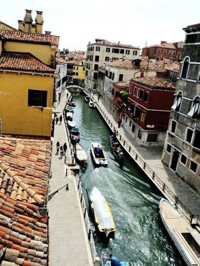 Fall in love with Venice Venice, Italy Venice Canals Venice View Multicolor Building Exterior Buildings Exterior Water Window View Rooftop Urban Geometry Urban Story Architecture Culture Old Town Travel Travel Photography Travel Destinations View