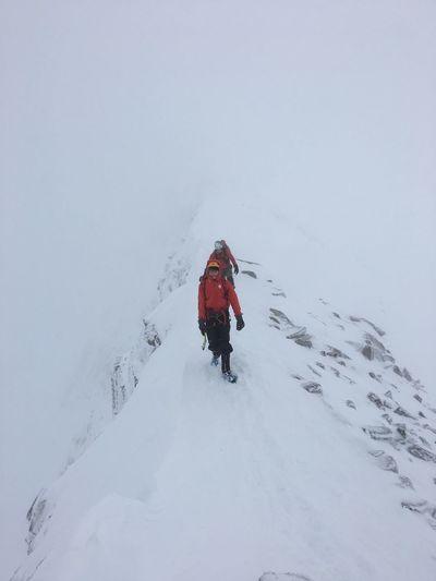 Ben Nevis Ridge Ben Nevis North Face Scottish Highlands Winter Climbing Having Fun Mountain Range Climbing A Mountain Scotland One Person Ski Holiday Snowboarding Full Length