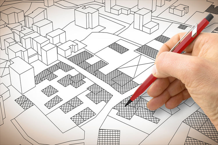 City Map Activity Adult Art And Craft Body Part Business Cadastral Cadastral Map Cadastral Parcel Cadastre Creativity Design Professional Diagram Drawing - Activity Finger Hand Holding Human Body Part Human Finger Human Hand Indoors  Pattern People Planning Real People