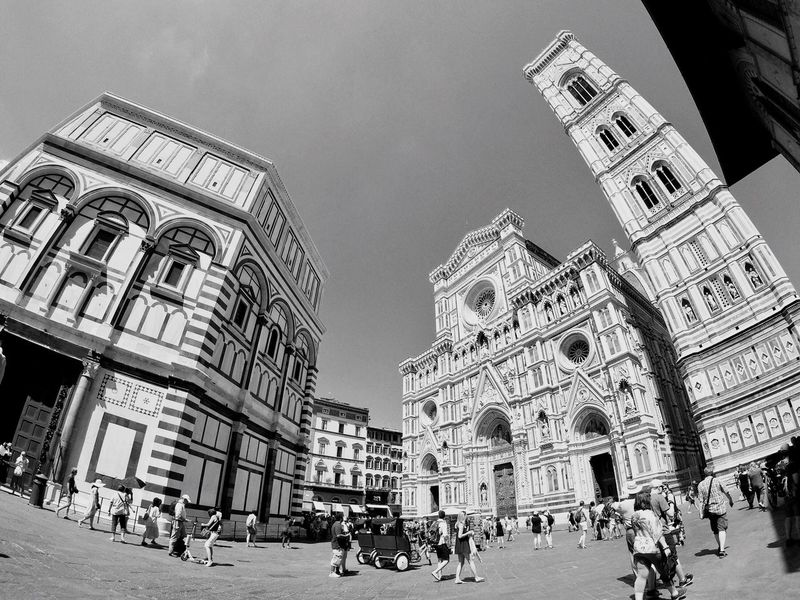 EyeEm Selects Florence Firenze Florence Cathedral Dome Duomo Santa Maria Del Fiore Bell Tower Italy Italia Traveling Building Architecture Blackandwhite Iamonmywaytoeverywhere