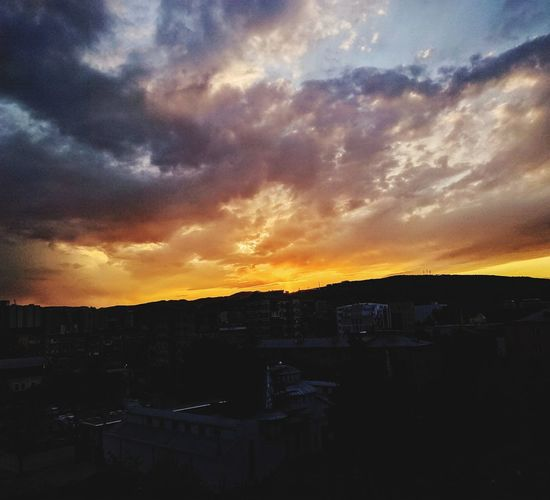 Passion on the horizon Sunset Sky Cityscape Cloud - Sky Outdoors City Landscape Urban Tbilisi Georgia Dusk Twillight