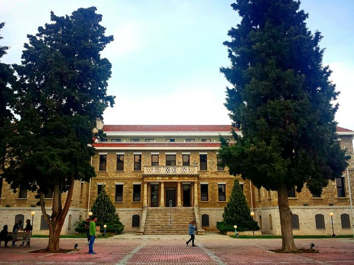 AFS American Farm School Architecture Building Old Renovated University Campus Sky Trees Day People Phoneography Samsungphotography Thessaloniki Greece