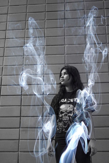 Black and white photo #Dark #White #back #blackandwhite #darkness #people #people And Places #rock #smoke