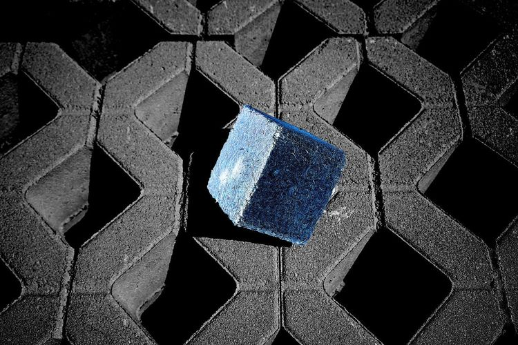 Building Site Stones Block Pattern Close-up Full Frame No People Design Backgrounds Shape Geometric Shape Blue Abstract Creativity Hexagon Textured  Art And Craft Tile