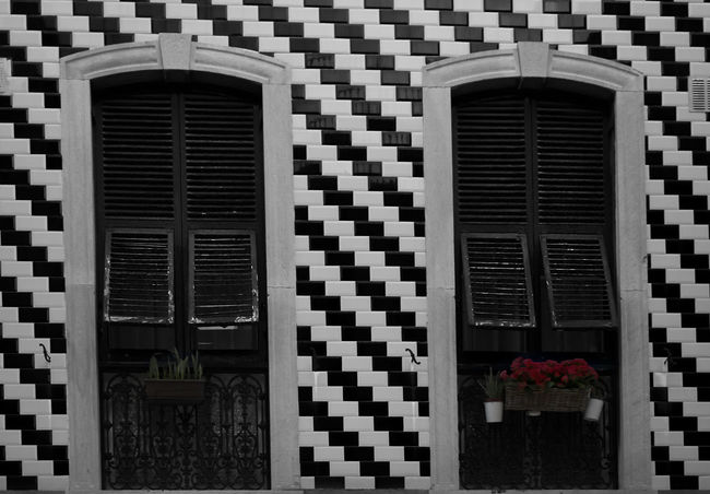 Shutters Wooden Shutters Antique Windows Architecture Building Exterior Built Structure Close-up Colour Pop Day No People Outdoors Pattern Windows The Graphic City