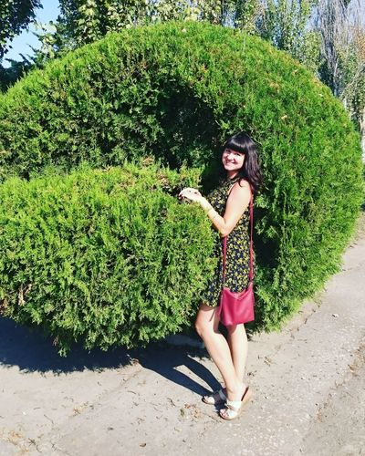Crimea hollyday Full Length Young Adult Young Women Leisure Activity Tree Lifestyles Beauty Person Shadow Casual Clothing Green Color Sunny Plant Sunlight Front View Long Hair Summer Growth Day Nature