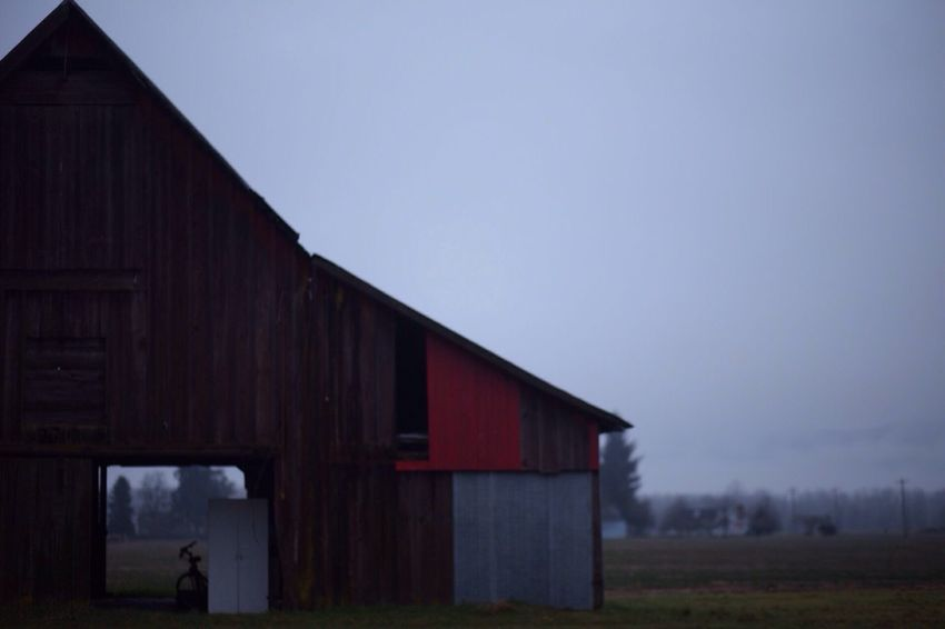 Built Structure Architecture Barn No People Clear Sky Outdoors Building Exterior Day Ominous Bike