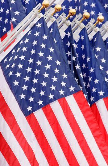 Full frame shot of american flags