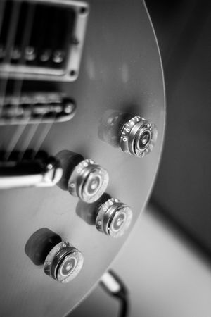Technology Indoors  Close-up No People Full Frame Day Knobs And Dials Small Detail Details Plucking An Instrument Orange Amps Gibsonguitars Gibson Les Paul EyeEmReady Musical Instrument String Indoors  Arts Culture And Entertainment Blackandwhite Photography Classical Music Musical Instrument Jazz Music Fretboard Speaker Modern Rock String Instrument