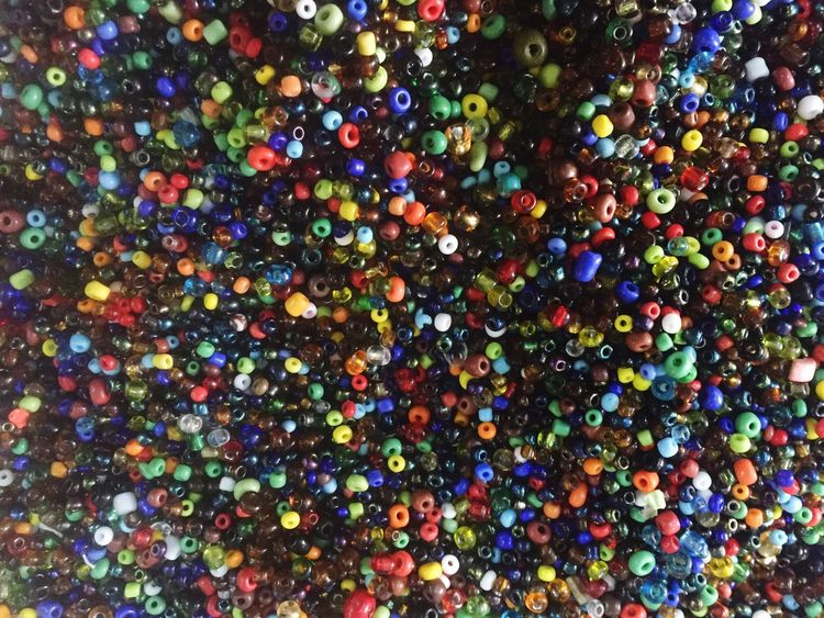 Multi Colored Abundance Full Frame Confetti Large Group Of Objects Bubble Gum Close-up Variation Beeds Pearls Africa Art No People Backgrounds Black Background Indoors  Day