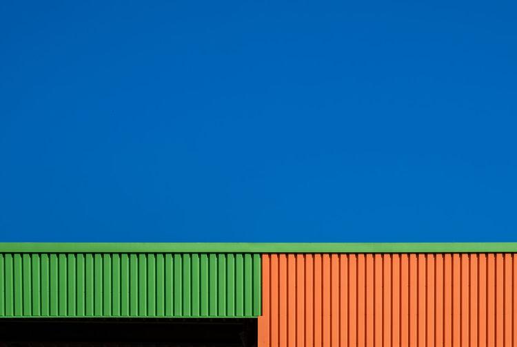 Built structure against blue sky