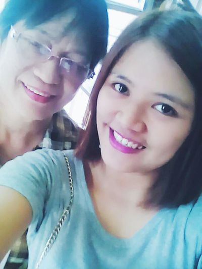 with momma <3