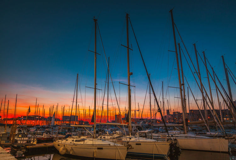 Marseille Sunset Beach Outdoors Sea Marseille Vieux Port Nautical Vessel Blue Water Sky No People Nature Sand Clear Sky Night Beauty In Nature