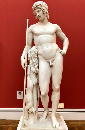 Adonis Human Representation Red Art And Craft Representation Indoors  Sculpture Statue First Eyeem Photo