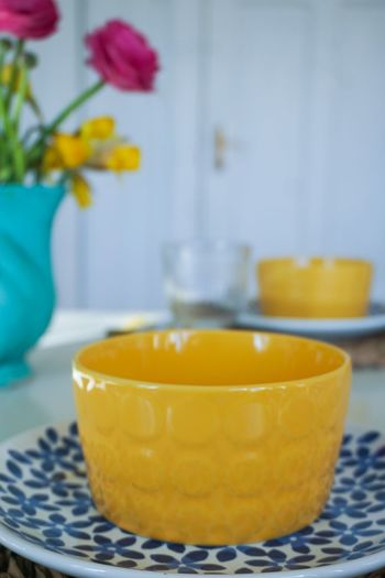 yellow soup bowls Easter Easter Ready Easter Sunday Easter Decoration Yellow Soup Bowl Bowl Plate Blue Table Table Setting Setting The Table Vase Bouquet Of Flowers Spring Springtime Flower Yellow Tablecloth Domestic Room Bowl Vase Close-up Food And Drink Blooming Flower Head Pink Stamen In Bloom