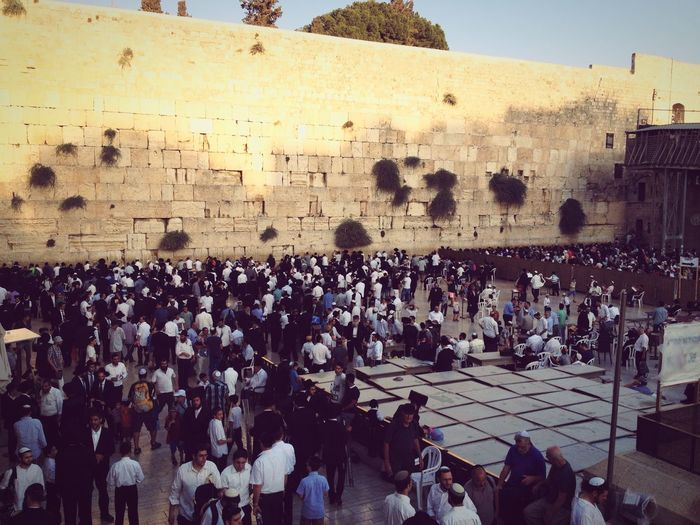 The walling Wall of Jerusalem Contemplation Meditating Praying Soul Searching