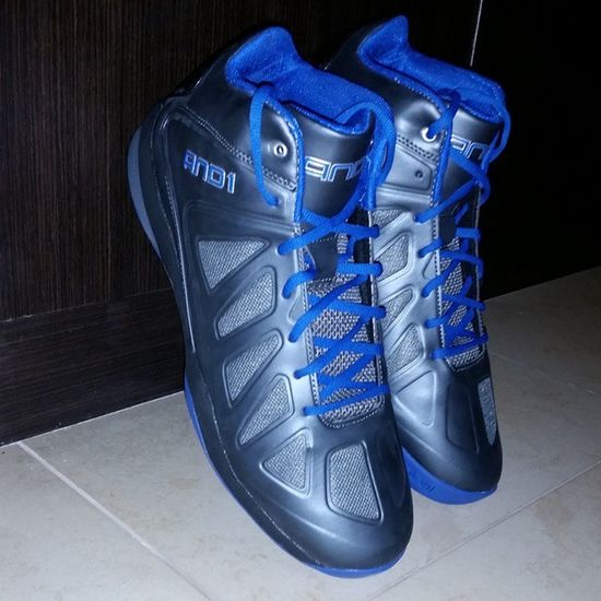 Got new basketball? shoes thanks mum and dad And1 Black Blue Instagood dxb modells moe 2014