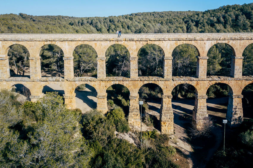 Aqueduct DJI X Eyeem Drone  The Ferreres Aqueduct Aerial Aerial View Ancient Ancient Civilization Arch Architecture Bridge Bridge - Man Made Structure Built Structure Day Dronephotography History Landscape Mountain Nature No People Old Old Ruin Outdoors Sky Tree
