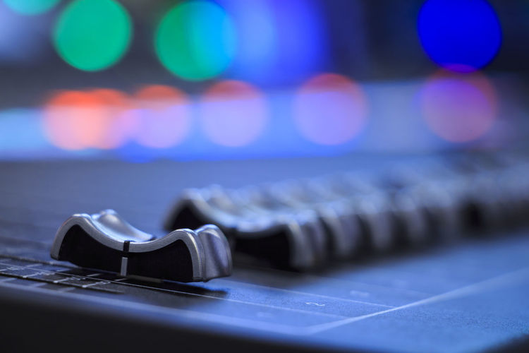 Audio mixer Audio Audiomixer Broadcast Close-up Equalizer Equipment Focus On Foreground Illuminated Large Group Of Objects LED Lens Flare Media Metal Mixer Mixing Mixing Console No People Production Recording Recording Studio Selective Focus Sound Studio Surface Level Technology