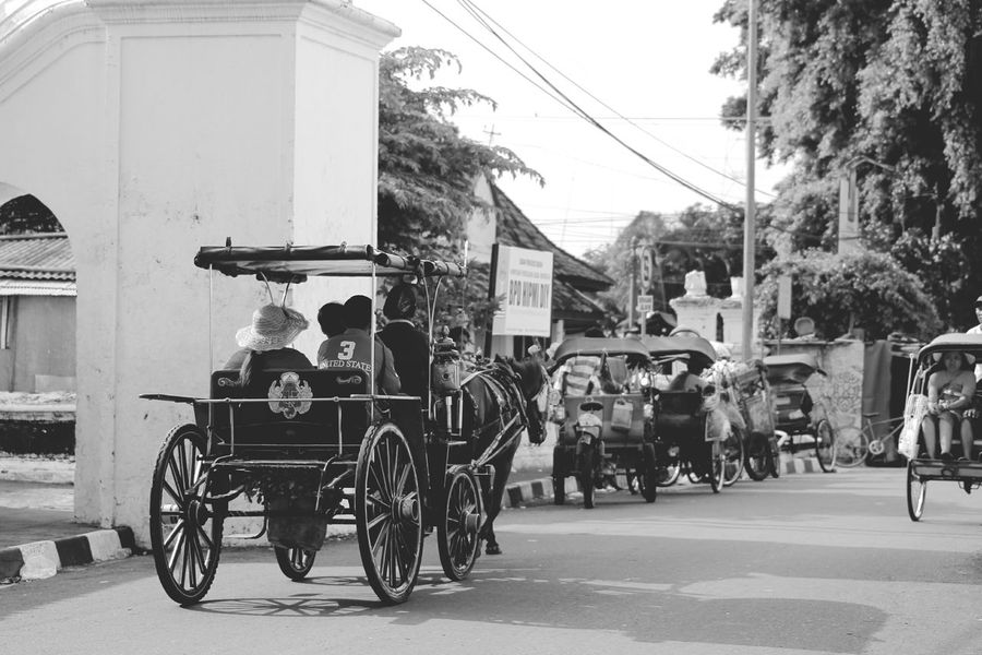 The Street Photographer – 2016 EyeEm Awards Check This Out Taking Photos Special Moment From My Point Of View Original Photography Black And White Photography Traditional Culture Traditional Transportation Yogyakarta, Indonesia