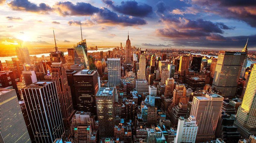 Newyorkcity Sunset U.S.A