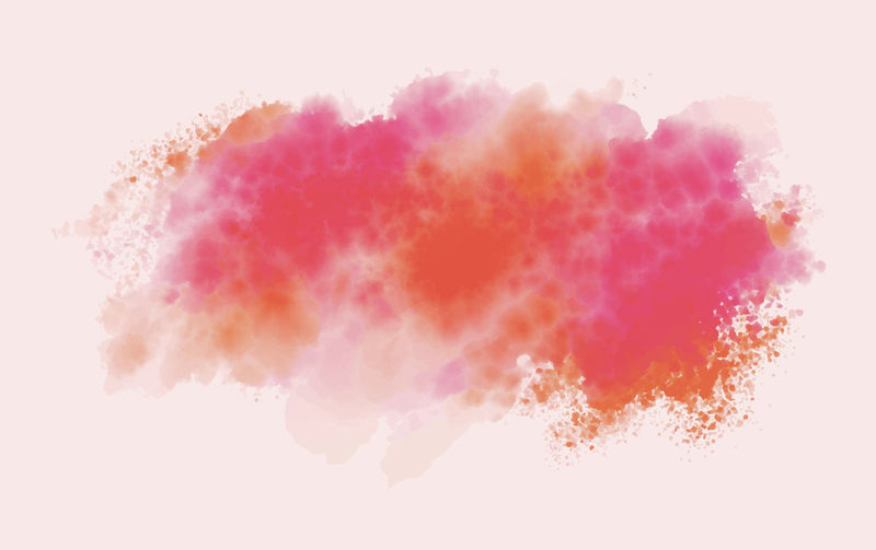 Abstract image of pink splashing against white background