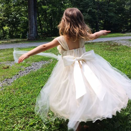 Little Girl Childhood Twirling Beautiful Flower Girl Simple Joys Dress Carefree Outdoors Barefoot Wild And Free Dancing Child Twirling Feeling Pretty One Person Alone And Happy Music In My Head Audience Of One