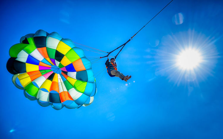 Parasailing adventure in Bangladesh Adventure Bangladesh Blue Clear Sky Cox's Bazar Coxsbazar Day Extreme Sports Flying Fun Inani Low Angle View Multi Colored Nature Outdoors Parachute Parasailing Sky Sport Sun Sunlight