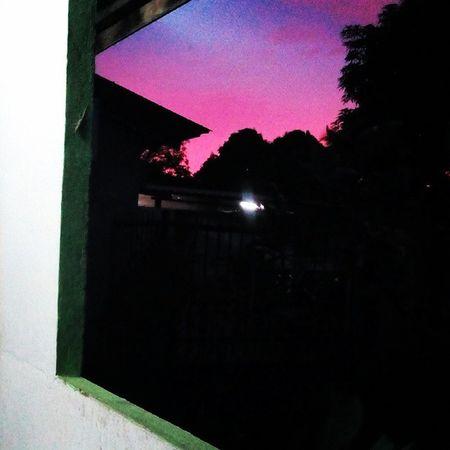 Beautiful Sunset Sky Skylover 窗外 天空 Kampung View 20150502