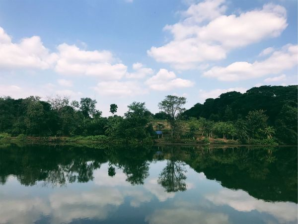 Reflection Water Sky Built Structure Tree Cloud - Sky Architecture Waterfront Nature Tranquility No People Lake Outdoors Beauty In Nature Tranquil Scene Day Building Exterior Scenics
