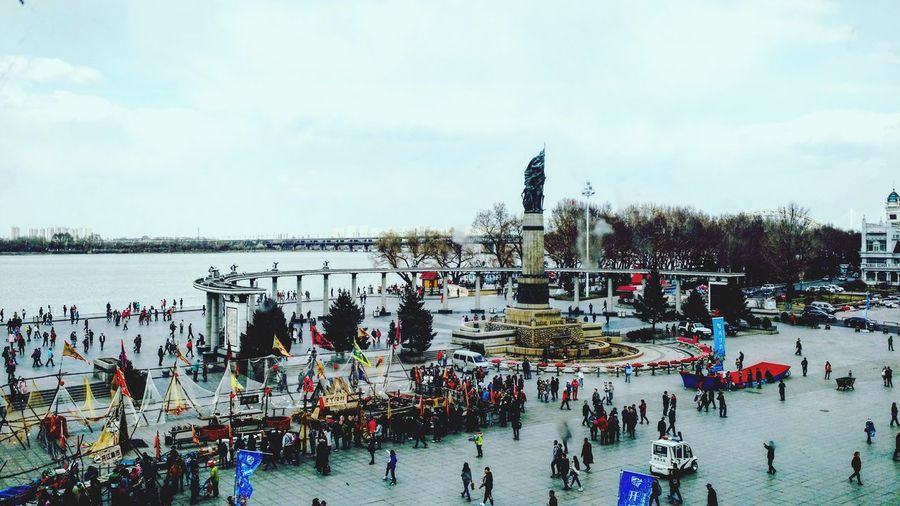 Harbin China Chinese Sky Clouds People River Architecture Urban See Square Monument 中国 哈尔滨 城市 建筑物 天空 纪念碑 云 人群 江 广场 도시 건축물 하늘 하늘