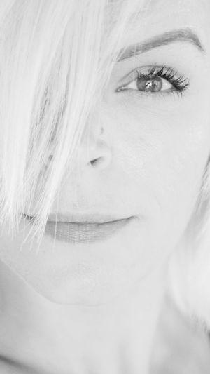 Close-up portrait of a woman