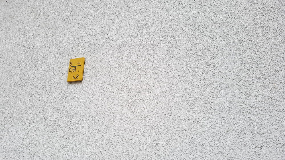 Textured  Yellow No People Outdoors Day Architecture Sign Fassade Wall House Another Point Of View Another View Frame Angle Small