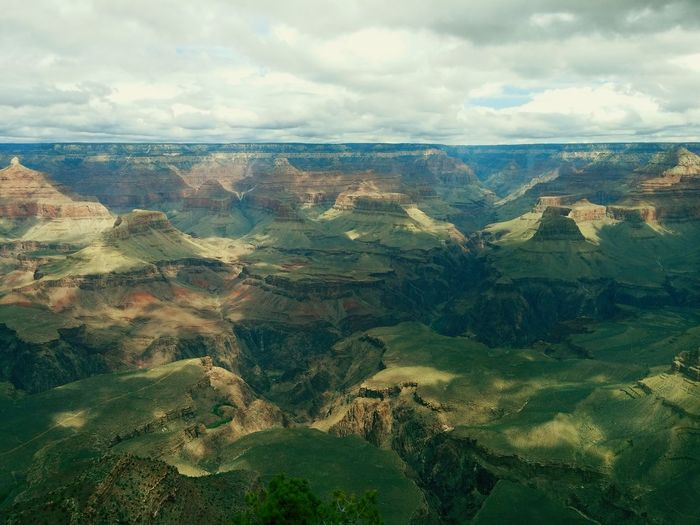 Scenic View Of Rock Formations At Grand Canyon National Park
