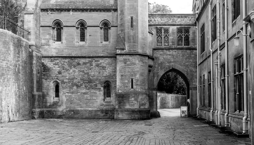 Courtyard, Tyntesfield, Bristol Tyntesfield Architecture Black And White Monochrome