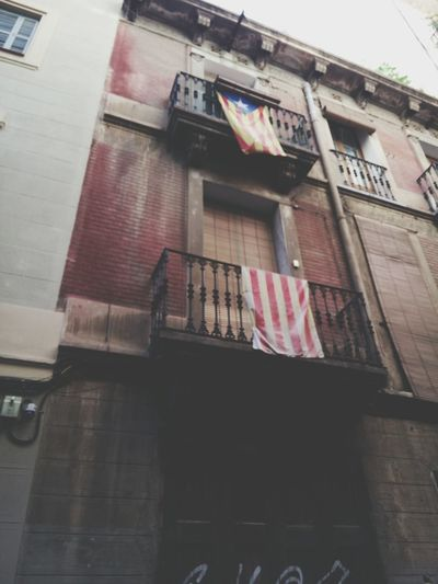 Barcelona, Spain Building Exterior Window Flags Architecture City Street Urbanexplorer Urban Photography Urban Lifestyle Urban Exploring Nacionalismo Nacionalistapura Politics