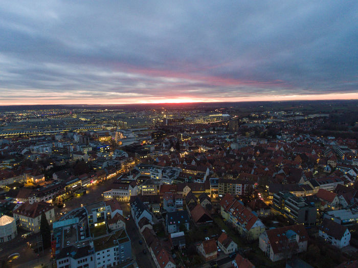 City Drone  Stuttgart Dji Drohne Mavic Pro Night Sindelfingen Sunset First Eyeem Photo