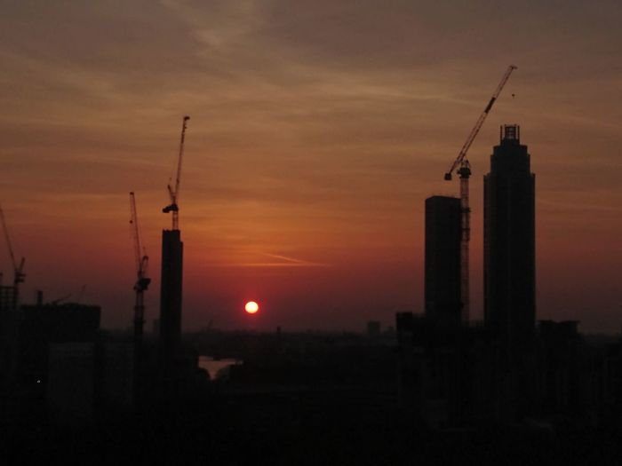 Business Finance And Industry Sunset Industry Built Structure Smoke Stack Sky Factory No People Outdoors Architecture Petrochemical Plant Day Travel Destinations London