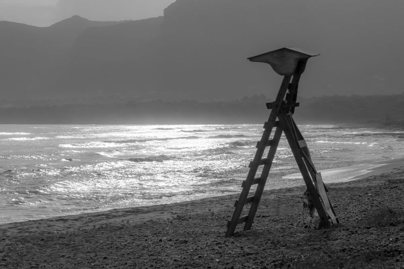 Krull&Krull Images Mallorca Morning Light Reflection Beach Beauty In Nature Day Horizon Over Water Lifeguard  Lifeguard Stand Lifeguard Station Mountain Nature No People Outdoors Sand Scenics Sea Sky Son Serra De Marina Tranquil Scene Tranquility Water